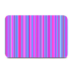 Blue And Pink Stripes Plate Mats by Nexatart