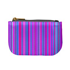 Blue And Pink Stripes Mini Coin Purses by Nexatart