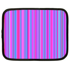 Blue And Pink Stripes Netbook Case (xl)