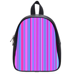 Blue And Pink Stripes School Bags (small)  by Nexatart