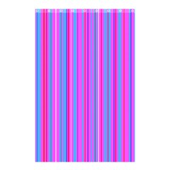 Blue And Pink Stripes Shower Curtain 48  X 72  (small)  by Nexatart