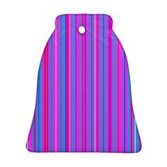 Blue And Pink Stripes Bell Ornament (two Sides)