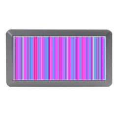 Blue And Pink Stripes Memory Card Reader (mini)