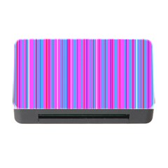 Blue And Pink Stripes Memory Card Reader With Cf by Nexatart