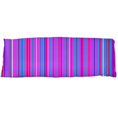 Blue And Pink Stripes Body Pillow Case (dakimakura) by Nexatart