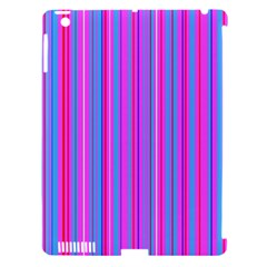 Blue And Pink Stripes Apple Ipad 3/4 Hardshell Case (compatible With Smart Cover)