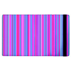 Blue And Pink Stripes Apple Ipad 2 Flip Case