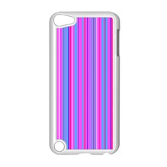 Blue And Pink Stripes Apple Ipod Touch 5 Case (white)