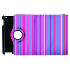 Blue And Pink Stripes Apple Ipad 3/4 Flip 360 Case