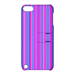 Blue And Pink Stripes Apple Ipod Touch 5 Hardshell Case With Stand by Nexatart
