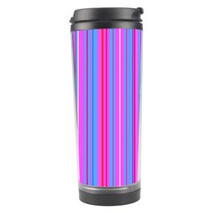 Blue And Pink Stripes Travel Tumbler