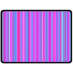 Blue And Pink Stripes Double Sided Fleece Blanket (large)  by Nexatart