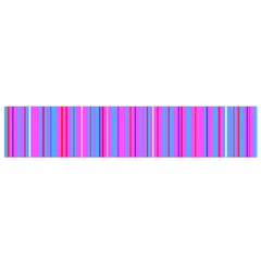 Blue And Pink Stripes Flano Scarf (small) by Nexatart