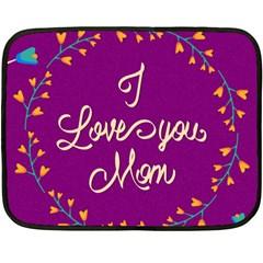 Happy Mothers Day Celebration I Love You Mom Fleece Blanket (Mini)