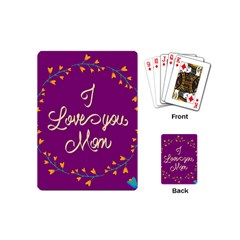 Happy Mothers Day Celebration I Love You Mom Playing Cards (mini)  by Nexatart