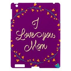 Happy Mothers Day Celebration I Love You Mom Apple Ipad 3/4 Hardshell Case by Nexatart
