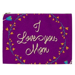 Happy Mothers Day Celebration I Love You Mom Cosmetic Bag (xxl)