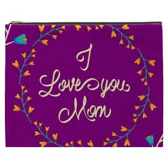 Happy Mothers Day Celebration I Love You Mom Cosmetic Bag (xxxl)  by Nexatart