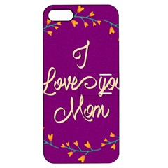 Happy Mothers Day Celebration I Love You Mom Apple Iphone 5 Hardshell Case With Stand by Nexatart