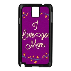 Happy Mothers Day Celebration I Love You Mom Samsung Galaxy Note 3 N9005 Case (black)
