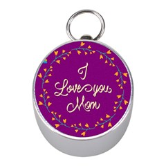 Happy Mothers Day Celebration I Love You Mom Mini Silver Compasses by Nexatart