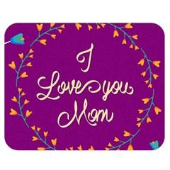 Happy Mothers Day Celebration I Love You Mom Double Sided Flano Blanket (medium)