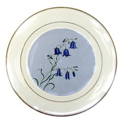 Floral Blue Bluebell Flowers Watercolor Painting Porcelain Plates by Nexatart
