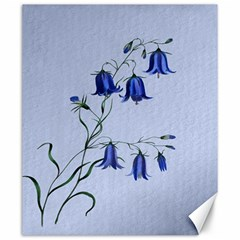 Floral Blue Bluebell Flowers Watercolor Painting Canvas 20  X 24   by Nexatart