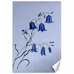 Floral Blue Bluebell Flowers Watercolor Painting Canvas 20  X 30   by Nexatart