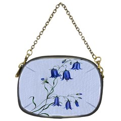 Floral Blue Bluebell Flowers Watercolor Painting Chain Purses (two Sides)  by Nexatart