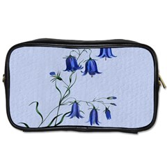 Floral Blue Bluebell Flowers Watercolor Painting Toiletries Bags by Nexatart