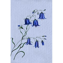 Floral Blue Bluebell Flowers Watercolor Painting 5 5  X 8 5  Notebooks