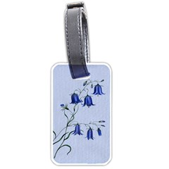 Floral Blue Bluebell Flowers Watercolor Painting Luggage Tags (two Sides)
