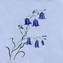 Floral Blue Bluebell Flowers Watercolor Painting Magic Photo Cubes by Nexatart