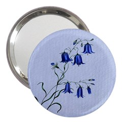Floral Blue Bluebell Flowers Watercolor Painting 3  Handbag Mirrors