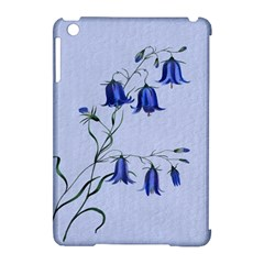 Floral Blue Bluebell Flowers Watercolor Painting Apple Ipad Mini Hardshell Case (compatible With Smart Cover)