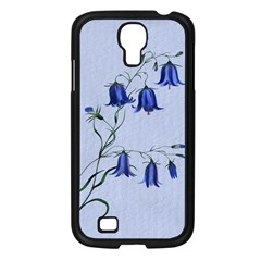Floral Blue Bluebell Flowers Watercolor Painting Samsung Galaxy S4 I9500/ I9505 Case (black)