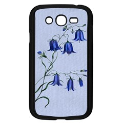 Floral Blue Bluebell Flowers Watercolor Painting Samsung Galaxy Grand Duos I9082 Case (black)