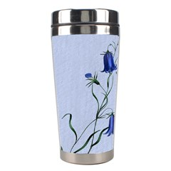 Floral Blue Bluebell Flowers Watercolor Painting Stainless Steel Travel Tumblers by Nexatart