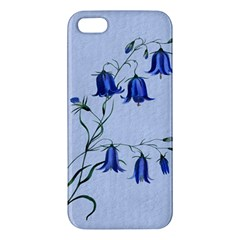 Floral Blue Bluebell Flowers Watercolor Painting Iphone 5s/ Se Premium Hardshell Case
