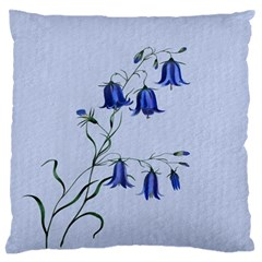 Floral Blue Bluebell Flowers Watercolor Painting Standard Flano Cushion Case (two Sides) by Nexatart