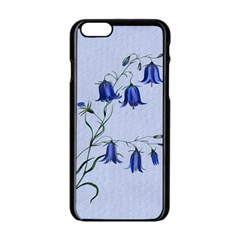 Floral Blue Bluebell Flowers Watercolor Painting Apple Iphone 6/6s Black Enamel Case by Nexatart