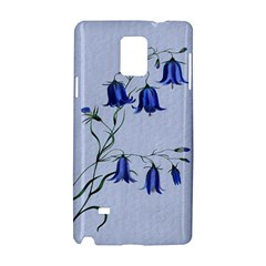 Floral Blue Bluebell Flowers Watercolor Painting Samsung Galaxy Note 4 Hardshell Case