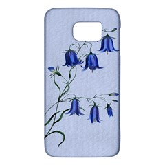 Floral Blue Bluebell Flowers Watercolor Painting Galaxy S6 by Nexatart