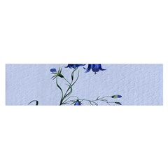 Floral Blue Bluebell Flowers Watercolor Painting Satin Scarf (oblong)