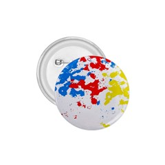 Paint Splatter Digitally Created Blue Red And Yellow Splattering Of Paint On A White Background 1.75  Buttons by Nexatart