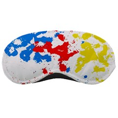 Paint Splatter Digitally Created Blue Red And Yellow Splattering Of Paint On A White Background Sleeping Masks by Nexatart