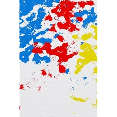 Paint Splatter Digitally Created Blue Red And Yellow Splattering Of Paint On A White Background 5 5  X 8 5  Notebooks by Nexatart