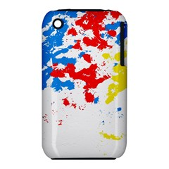 Paint Splatter Digitally Created Blue Red And Yellow Splattering Of Paint On A White Background Iphone 3s/3gs