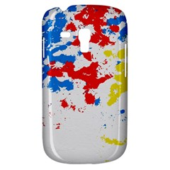 Paint Splatter Digitally Created Blue Red And Yellow Splattering Of Paint On A White Background Galaxy S3 Mini